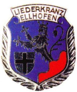 Vereinswappen des Liederkranz Ellhofen im Allgäu